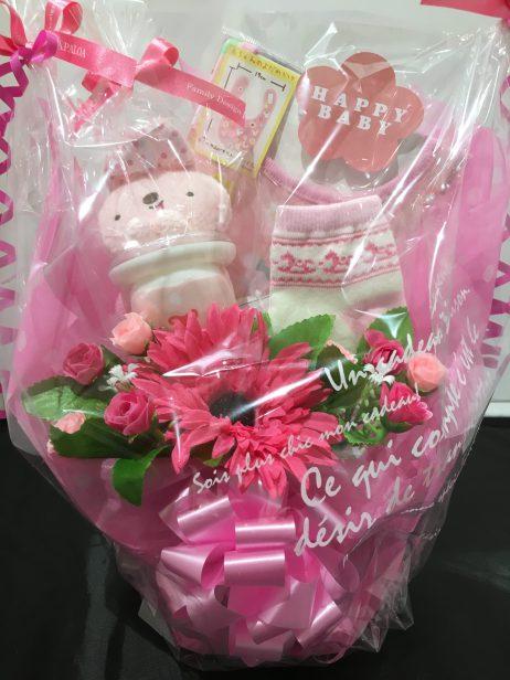 おむつケーキ(ピンク)