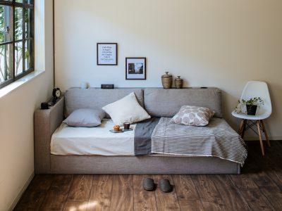 シングルベッド マットレス&フレーム ソファにも
